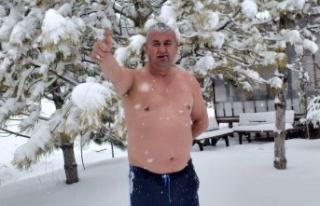 Mevsimin ilk karıyla banyo yapma sevinci