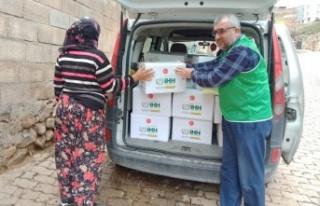 İHH Kahramanmaraş Şubesinden gıda yardımı