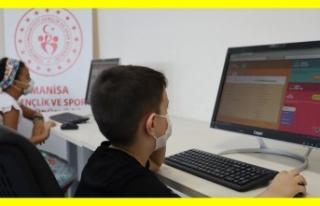 345 Gençlik Merkezinde EBA eğitim seferberliği...