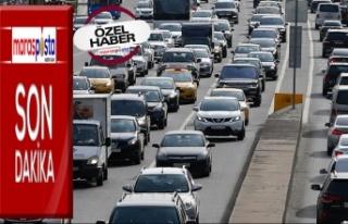 Kahramanmaraş'ta trafiğe kayıtlı araç sayısı...