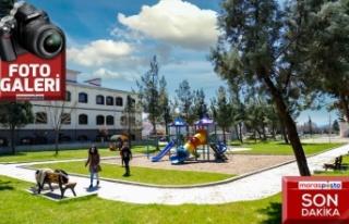 BM ile ortaklaşa yenilenen Karacasu Parkı hizmete...