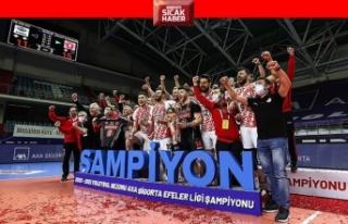 Efeler Ligi'nde şampiyon: Ziraat