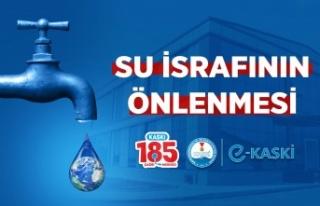 KASKİ'den su tasarrufu çağrısı…
