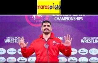 Milli güreşçi Taha Akgül 8. kez Avrupa şampiyonu...