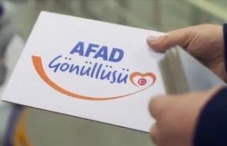 'Temel AFAD gönüllüsü' olma yaşı 18'den...