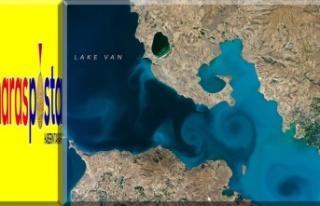 Van Gölü'nün uzaydan fotoğrafı, NASA'nın...