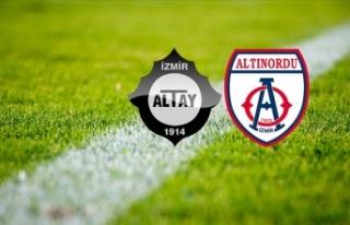 Altınordu ile Altay, Süper Lig için Atatürk Olimpiyat'ta...