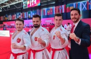 Karatede Erkek  Milliler Avrupa şampiyonu oldu