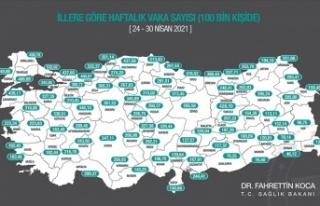 Kovid-19 vaka sayısı 81 ilin tümünde azaldı