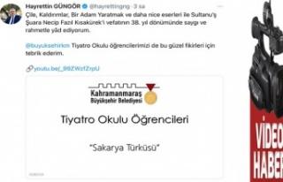 Sakarya Türküsü, Kahramanmaraş'ta yankılandı