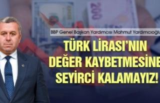 """""""Türk Lirası'nın değer kaybetmesine seyirci..."""