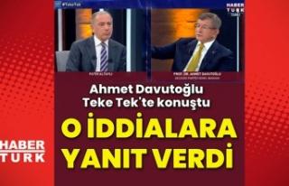 Sedat Peker'in silah iddialarına Davutoğlu'ndan...