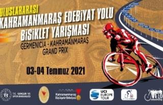 """""""Uluslararası Edebiyat Yolu Bisiklet Yarışı""""nda..."""