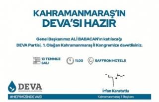 DEVA'nın il kongresi yarın yapılacak