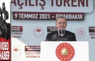 Diyarbakır'da tamamlanan projelerin toplu açılış...