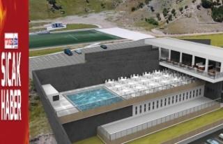Doğukent yüzme spor kompleksi inşaatı devam ediyor