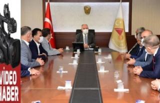 Ahilik Haftası dolayısıyla Vali Coşkun'a ziyaret