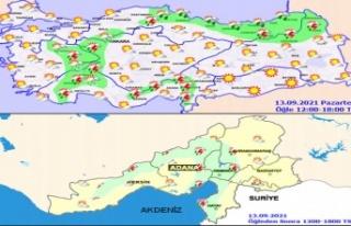 Bölgemizde ve Kahramanmaraş'ta bugün hava...