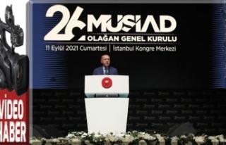 """Erdoğan """"Bugün bölgemizde Türkiye artık söz..."""