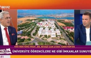 """KSÜ Rektörü Prof. Can, Beyaz TV'de """"Uyan Türkiyem""""e..."""