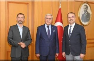 KSÜ Rektörü, MÜ Rektörü'nü Ziyareti etti…
