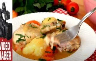 Sebzeli tavuk haşlama nasıl yapılır?