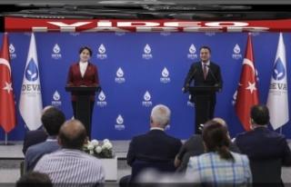 Ali Babacan ve Meral Akşener ortak basın toplantısı