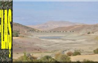 Göksun'da 35 yıllık gölet kurudu