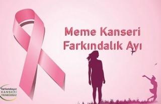 """""""Her 8 kadından, 1'i meme kanseri olma riski..."""
