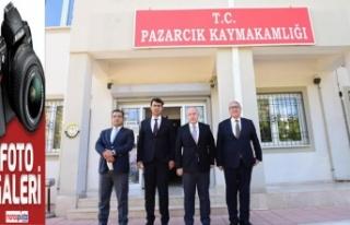 Vali Coşkun Pazarcık'ı ziyaret etti