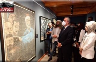 Yunus'un şiirleri tabloları Edebiyatın Başkenti'nde