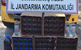 80 şişe kaçak içki ele geçirildi