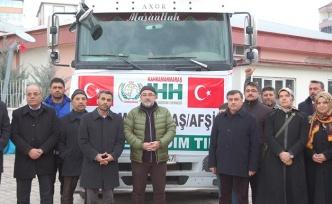 İdlib'e yardım malzemesi gönderildi