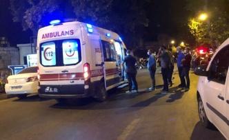 """""""Dur"""" ihtarına uymayan motosiklet sürücüsü polise çarptı"""