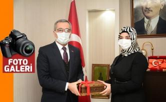"""Güngör'den AK Parti Elbistan Teşkilatına """"Hayırlı Olsun"""" ziyareti"""