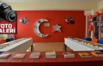 Gönüllü gençler, şehit askerin adına kütüphane açtı