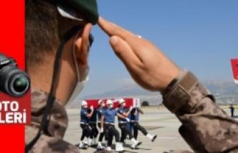 Şehit özel harekat polisi Gül'ün cenazesi getirildi