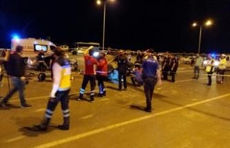Kayseri yolunda trafik kazası: 1 ağır 5 yaralı