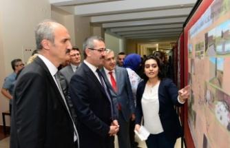 """KSÜ'de """"Bahtiyar Yokuşu Sokak Sağlıklaştırma Proje"""" Sergisi"""