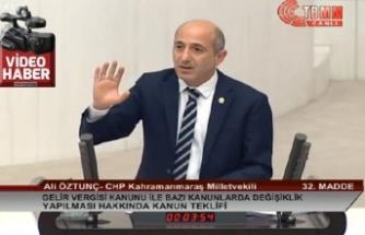 CHP'li Öztunç: Elbistan'ın adı 'Külbistan' olmasın!