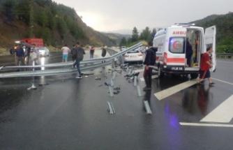 Yağış, kazaya neden oldu: 4 yaralı