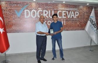 YKS'nın il birincisi: Doğru Cevap'tan Melih Karabacak!