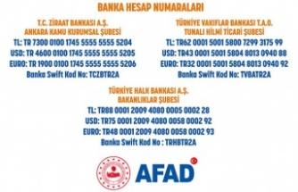 AFAD'tan bağış yapmak isteyen vatandaşlarımızın dikkatine!