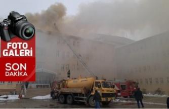 Göksun MYO'da yangın çıktı