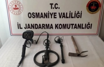 Kaçak kazı operasyonunda bir kişi gözaltına alındı