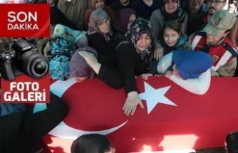 İdlib şehidi Uzman Çavuş Baykuş, son yolculuğuna uğurlandı