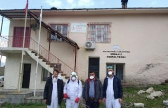 Dulkadiroğlu'nda kırsal mahallelerde dezenfekte ediliyor