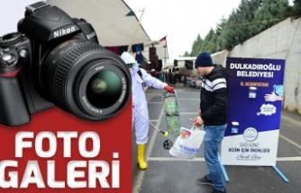 Dulkadiroğlu'nda pazar yerlerinde korona önlemi