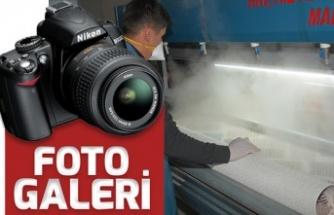 Halıları 130 derece buhar ile dezenfekte ediyor
