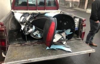 Minibüs ile motosiklet çarpıştı, 1 kişi yaralandı